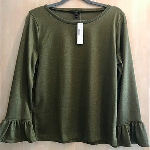 JCrew 3/4 ruffle sleeve blouse